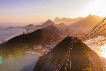 A breathtaking view over Rio de Janeiro from the Sugarloaf mountain