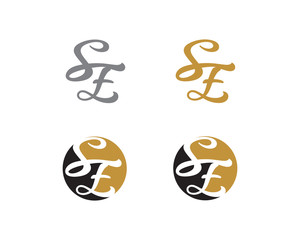 Letter S and E Logo Icon 1