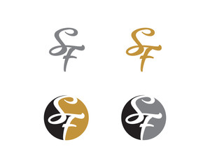 Letter S and F Logo Icon 1