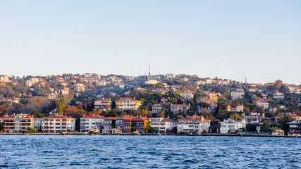 View from the Bosphorus river, Istanbul, Turkey
