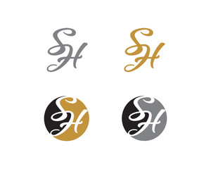 Letter S and H Logo Icon 1