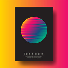 Abstract Colorful Gradient Circle Cover Design layout for banners, wallpaper, flyers, invitation, posters, brochure, voucher discount - Vector illustration template
