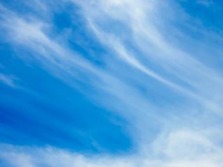 青い空と筋雲