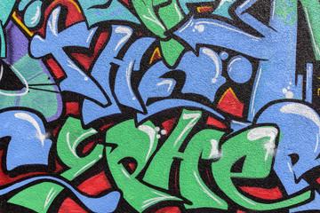 bemalte Wand - Graffiti