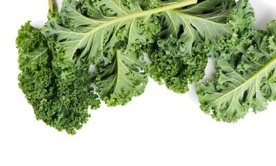 Green leaves of kale.