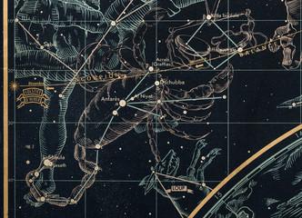 znak zodiaku-skorpion-mapa nieba