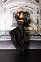 Pretty ballet dancer in the studio