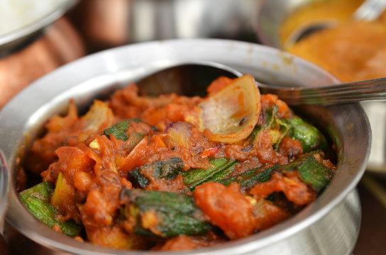 Bhindi masala or okra curry