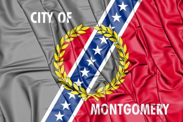 Flag of Montgomery (Alabama), USA. 3D Illustration.