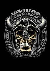 skull of viking warrior