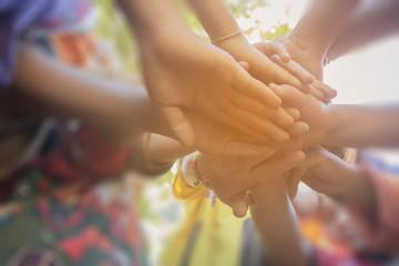 harmonious, hand teamwork