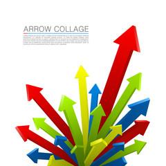 Arrow explosion colors art creative. Vector illustration