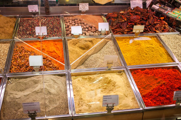 Spices and teas on the Spain market