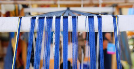 Thai traditional style silk weaving