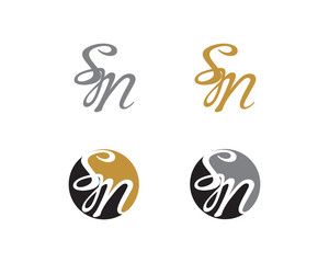 Letter S and M Logo Icon 1