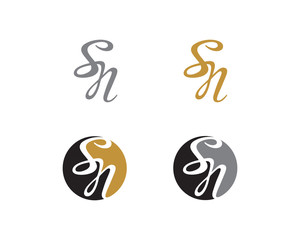 Letter S and N Logo Icon 1