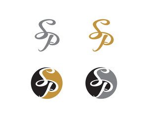 Letter S and P Logo Icon 1