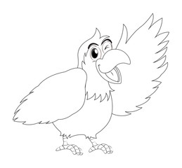 Animal outline for parrot bird