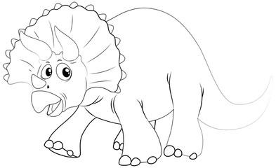 Animal outline for dinosaur with sharp horns