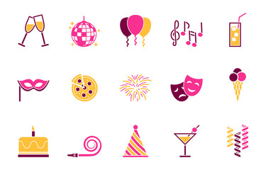 Party Iconset - Farbe