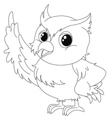 Animal outline for cute owl