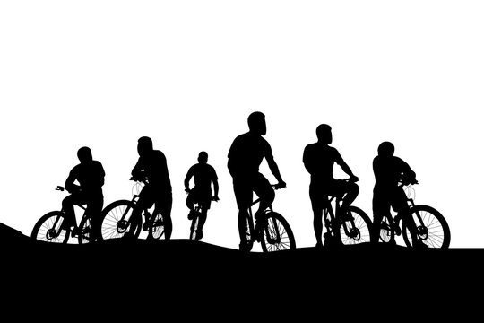 cyclists group 04