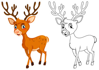 Animal outline for little fawn