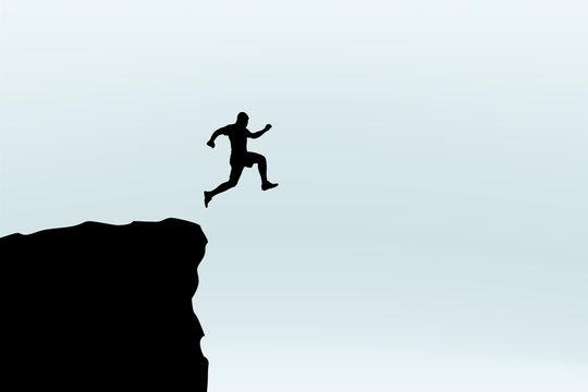 man jump silhouette