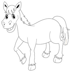 Animal outline for horse