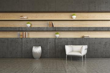 Wohnen, Lesezimmer, Bibliothek, Design, Interior