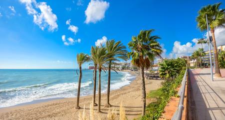 Wall Mural - Benalmadena beach. Malaga province, Andalusia, Spain