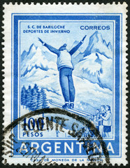 ARGENTINA - 1959: shows Ski Jumper