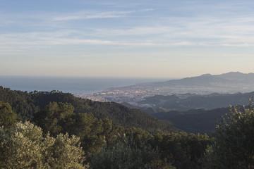 Malaga mountains sunset