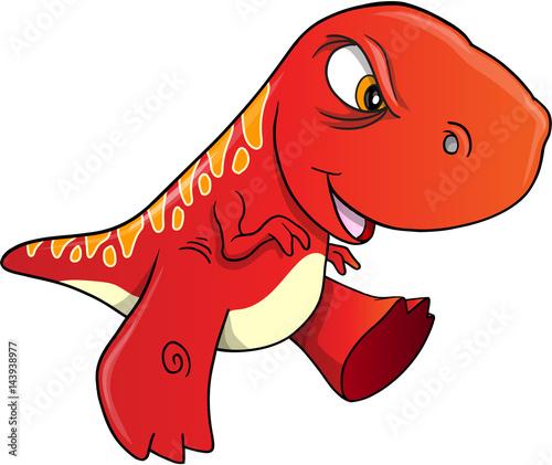 Angry Dinosaur Vector Illustration Art