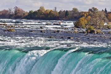 Beautiful image with amazing powerful Niagara waterfall