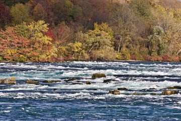 Beautiful image with amazing powerful Niagara river