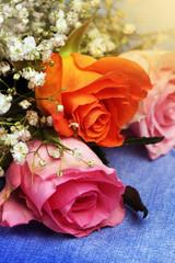 Beautiful flowers roses close-up