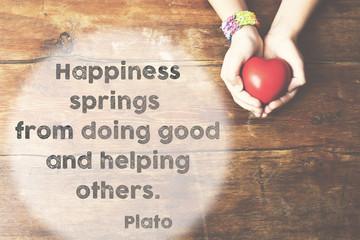 happiness springs Plato