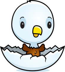 Cartoon Baby Eagle Hatching