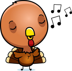 Cartoon Baby Turkey Singing
