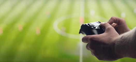 Gamepad in hand