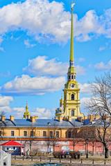 Petropavlovskaya fortress in Saint-Petersburg, Russia