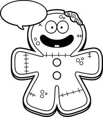 Talking Cartoon Gingerbread Zombie