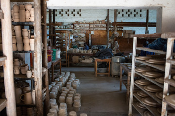 Africa,Malawi,Lilongwe district, Dedza pottery..Pottery industry