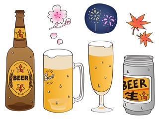 ビールセットと四季