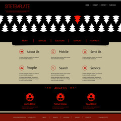 Website Template with Abstract Header Design - Pine Silhouettes
