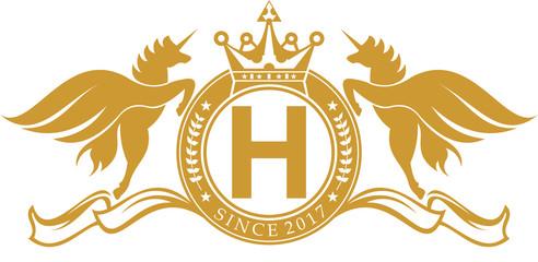 logo unicorn emblem crest