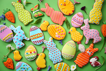 Easter cookies. Top view