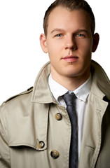 fashion young man with trenchcoat