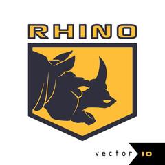 Rhino logo vector illustration rhino emblem